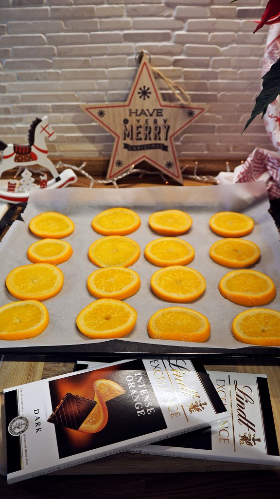 портокалови резенки с шоколад